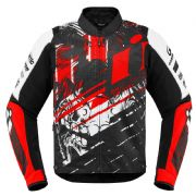 Icon Overlord Stim Textile Jacket Red